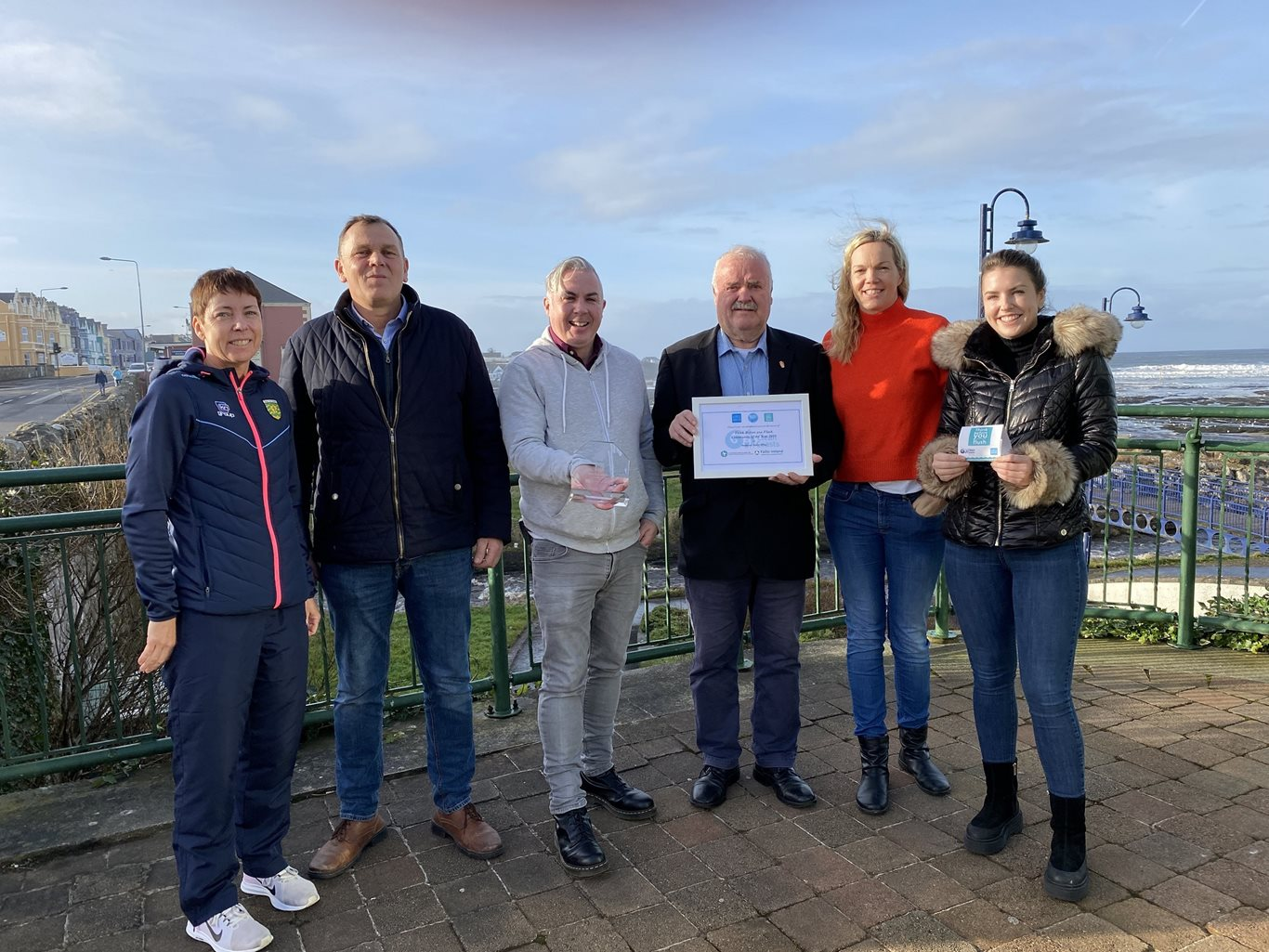 Business representatives from Bundoran with the Think Before You Flush Community of the Year award 2019.